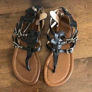 Nine West black Gladiator sandals- new never worn